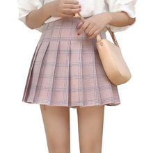 Buy New 2018 Spring Summer College Preppy Style Harajuku Casual Kawaii Pleated Joker Skirts Women A-line Plaid High Waist Mini Skirt for $12.58 in AliExpress store