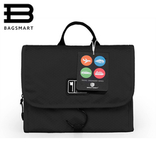 BAGSMART Waterproof  Travel Toiletry Bag With Hanger Cosmetic Packing Organizer Wash Bag Makeup Bag Pack Your Luggage Suitcase