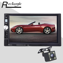 2 Double Din Car MP5 Player 7 Inch Touch Screen Auto Car MP4 Video Player Radio Remote Control With Rear View Camera