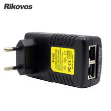 POE Injector 48V 0.5A poe power adapter for IP security camera POE pin 4&5(+), 7&8(-)  EU Plug