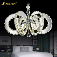 Modern Chandelier Hot Sale Diamond Ring Led Crystal Chandelier Light Pendant Lamp Circles 100% K9 Crystal Light