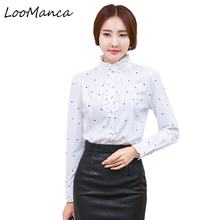 Buy Plus Size 4XL 5XL Formal Shirt Women Clothes Long Sleeve Stand Collar Ruffles Blouse Elegant OL Office Ladies Work Wear Tops for $9.57 in AliExpress store