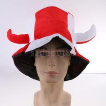 Adults Kids Ox Horn Design White Red Party Hat Carnival Halloween Christmas Headgear Fancy Dress Costume Cap Accessory(China)