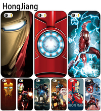 HongJiang super hero Iron Man cell phone Cover case for iphone 6 4 4s 5 5s SE 5c 6 6s 7 8 plus case for iphone 7 X(China)