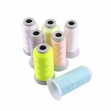 Spool Glow In The Dark Machine Hand Embroidery Sewing Thread Polyester Fiber + Noctilucent Factor Threads 1000 Yards/3000 Yards