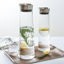 Cold kettle high temperature glass cold water bottle summer cool fruit juice pot can put in refrigerator side door