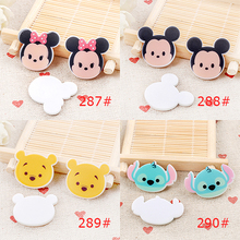 Kawaii flat back planar resin Baby TSUM TSUM Figurine holiday decoration crafts DIY phone Bow hair accessories