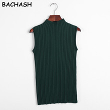 BACHASH New Summer Spring Autumn Fashion Women Sleeveless Sweater Female Sexy Clothing Knitted Vest Short Camis Tank Tops Girls(China)