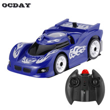 Wall Racing Ceiling Glass Climbing coche RC Car Zero Gravity Floor Climber Mini RC Racer Remote Control crawler Toy For Children(China)