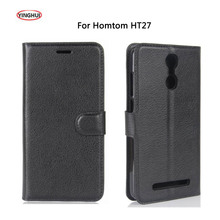 Buy YINGHUI DOOGEE Homtom HT27 PU Leather Case Luxury Flip Cover Protective Bags Skin Coque Homtom HT27 Phone Case Fundas for $3.43 in AliExpress store