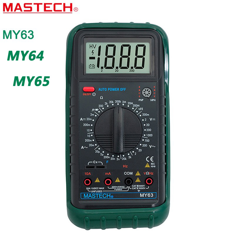 MASTECH MY63 MY64 MY65 Digital Multimeter AC/DC DMM Frequency Capacitance Temperature Meter Tester w/hFE Test Ammeter Multimetro<br><br>Aliexpress