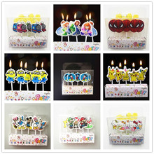 5pcs Hello Kitty candle Party Supplies Kids Birthday Candles Evening Party Decorations Birthday spiderman Party Cake Candles(China)
