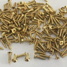 200pcs J245b M2*10 Flat Self-tapping Screws Brass Material Golden Small Philip's Screws DIY Model Making Tools Sell at a Loss(China)