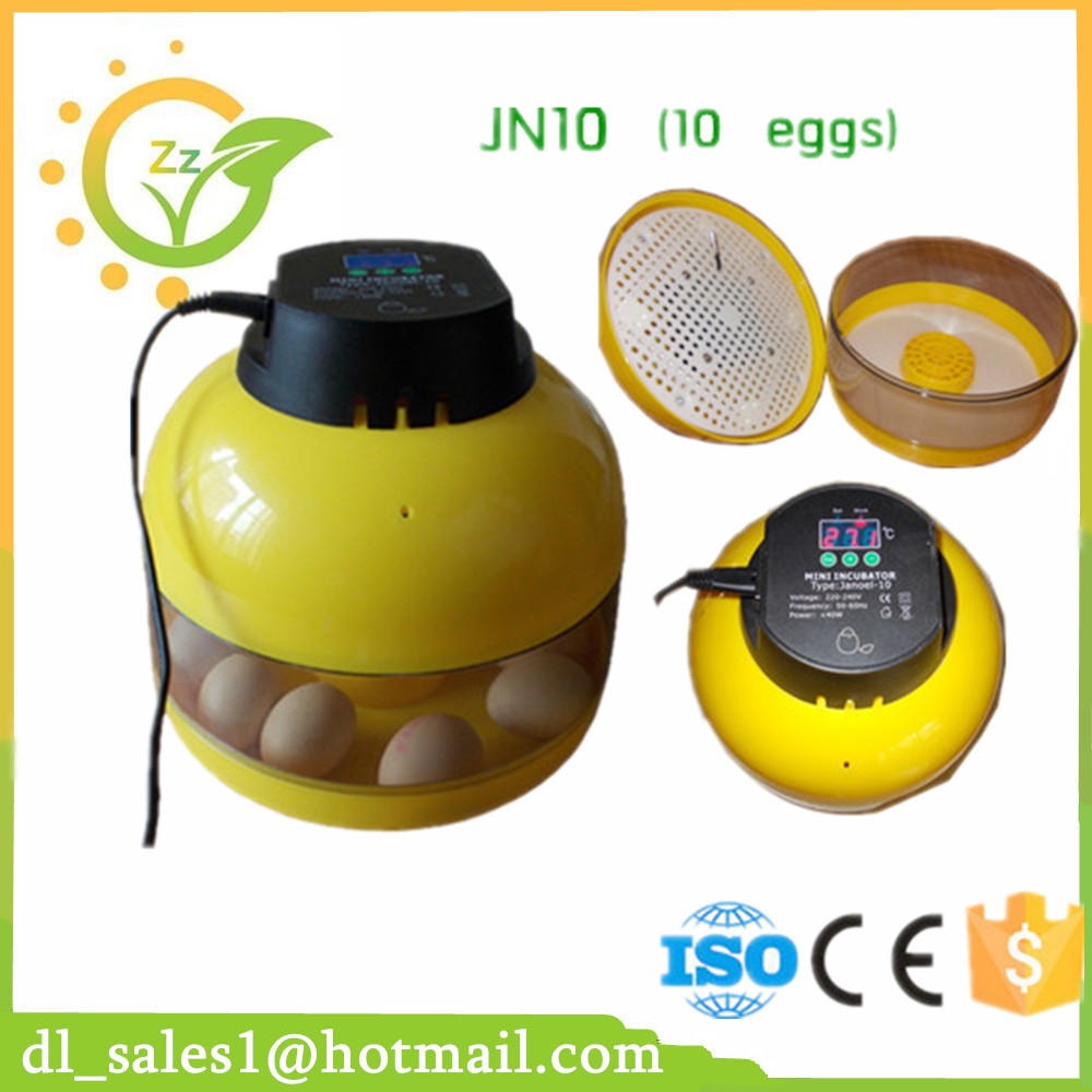 CE approved hot sale good quality and cheap price poultry 10 egg incubator price<br>