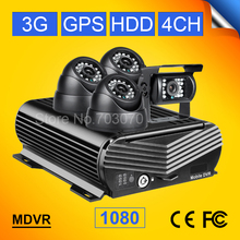 free shipping 3g gps ahd mobile dvr 4ch 1080 hdd hard disk video recorder with 4pcs car cameras max 2tb hard disk 256g sd mdvr