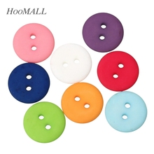 Hoomall Multicolor 50pcs Round Resin Buttons 2 Holes Fit Sewing And Scrapbooking 18mm Sewing Accessories For Clothing