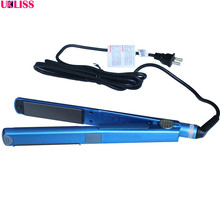Professional Nano Titanium Straightening Iron Electric Flat Hair Straightener Iron U style 1 piece free shipping brand new(China)