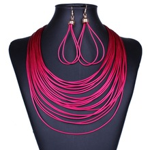 Statement Necklace 2015 New women Fashion Female Chain collar long big multilayer channel Necklaces & Pendant Jewelry Bijoux