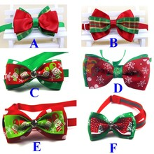 Pet Dog Neckties Bow Tie Cloth Cute Dog Christmas Decorations Bow Tie Dog Products 6 Colors 120pcs