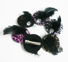 5.5cm Pet Hat Hair Clip Party Show Cute Dog Hat Grooming Personalized Leopard Print Pet Products 50pcs/lot