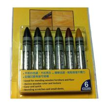 6pcs in a Pack Touch-up Crayons Wax Stick Filling Scratches Dings in Wood Furniture Floors