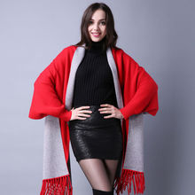 2017 New Fashion Luxury Brand Hight Quality Cashmere Pashmina Women Winter Novelty Scarf Female Wrap With Sleeves Outwear Xaile