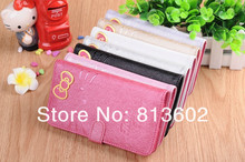 3D Hello Kitty Case For Samsung Galaxy Note 3 N9000 Hello Kitty Leather Wallet Stand Case Cover Skin with Credit Card Slot
