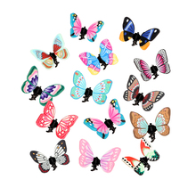 20pc/lot Clay Small Butterfly Hair Clip Claw Clip Catch Hair Pins Handmade Headware Decoration Colorful Tiara Designer Accessory(China)