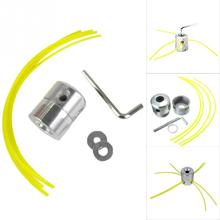 Strimmer Line Coil With 4 Lines Aluminum Double Head Thread Trimmer Head For Petrol Brushcutter Strimmer