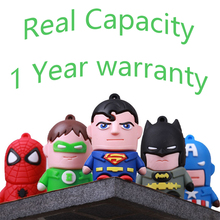 FullCapacity Rubber Cute Catoon Superman Batman Mini USB 512GB Flash Drive 3.0 Gift Pen Drive Memory Disk Stick Key Card 8GB-2TB