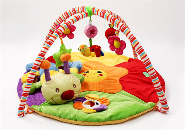 Lovely Face ! 90cm*90cm*50cm ! Baby Toy Play Mat Twist and Fold Activity Gym Play Playmats Colorful Gymini Playmat with 5 Toys<br><br>Aliexpress
