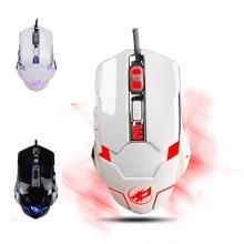 HOT!Customize 3200 DPI 6D Buttons LED Wired Gaming Mouse Ergonomic Design souris avec fil For PC Laptop for game,home,office,etc
