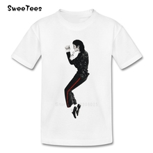 Michael Jackson Children T Shirt Pure Cotton O Neck Short Sleeve Tshirt Clothes Boy Girls 2017 Rock N Roll Star T-shirt For Baby