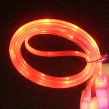 Latest Fashion 1M Light Up Orange LED USB Data Sync Charger Cable Cord for Most Android Phone