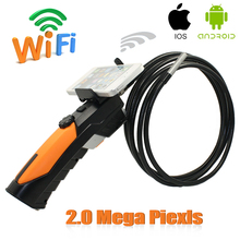 Handheld Wifi Endoscope Camera Wireless Snake Car Inspection Borescope Camera 2.0 Mega Pixels IOS Android Phone Endoskop(China)