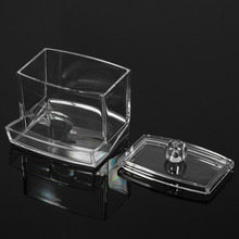 New Clear Practical Cotton Swab Q-tip Makeup Storage Organizer Box Cosmetic Transparent Holder Makeup Case