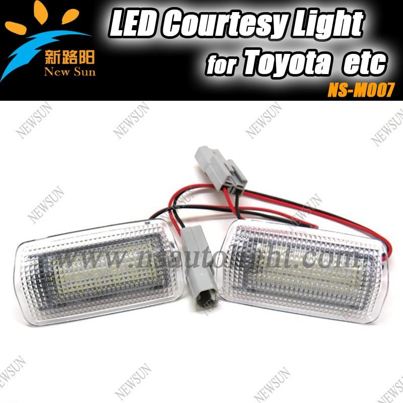 Factory cheap LED door courtesy light for Toyota Alphard Prius Vellfire Isis Estima Land Cruiser Camry Mark X LED courtesy lamps<br><br>Aliexpress