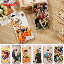 Popular Cartoon Anime One Piece Monkey D. Luffy Shockproof Soft TPU Case for iPhone 8 7 6 6s Plus Cell Phone Cover Coque Fundas(China)