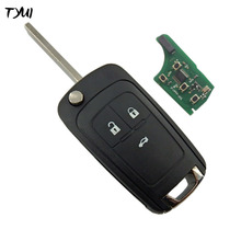 3 Buttons Complete Flip Car Remote Key For Opel Vauxhall Key Replace 433MHZ ID46 Electronic Chip On Board