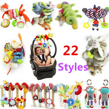 TOP Sale Infant Musical Soft Plush Rabbit Bear Dog Robot Baby Rattles Hanging Bed Stroller Star Teether Rattle Mobiles Baby Toys(China)