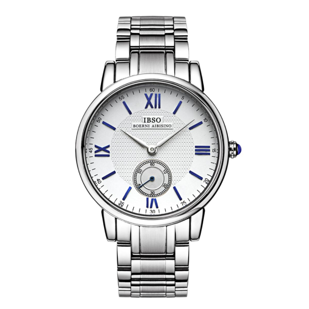 IBSO Business Watch Roman Numeral Watches Waterproof Full Stainless Steel Watch For Men 3973<br>