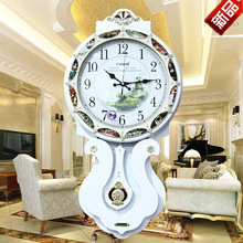 TUDA2017 new wooden wall clock pendulum clock creative painting set auger fashion watch Europe type restoring ancient ways
