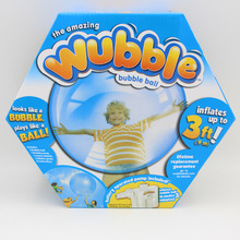 2016 New Funny toys Inflatable Rubber Wubble Bubble Ball Out Door Ball Toys With Air Pump Christmas Gift For kids S20 ball toys