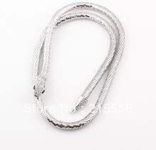 Flexible 10mm Bling Snake Necklace European Punk Style Hip Hop Fashion Snake Statement Necklace Jewelry Wholesale ZN41