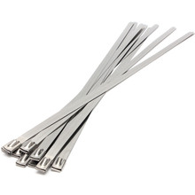 Strong Stainless Steel Marine Grade Metal Cable Ties Zip Tie Wraps Exhaust Lowest Price(China)