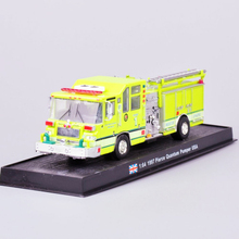 1:64 Fire Truck Model Yellow 1997 Pierce Quantum Pumper USA Alloy Diecast Truck
