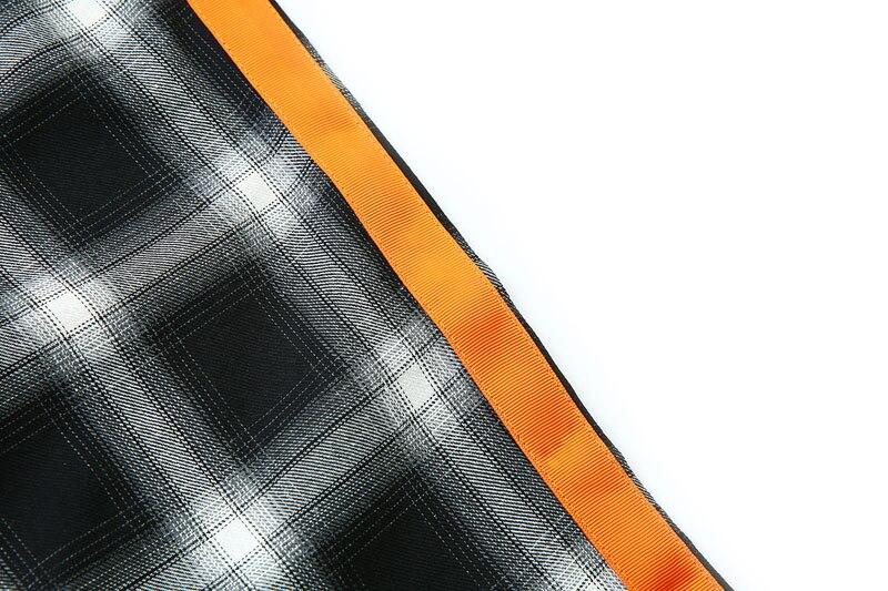 Side Ribbon Plaid Pants 13