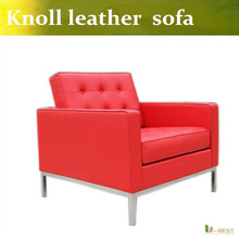 U-BEST Contemporary and modern designer sofas,genuine leather corner sofas in red,Recliner and Corner Suites(China)