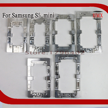 2Pcs Aluminium Metal alignment Moulds For Samsung Galaxy S5 Mini Phone OCA Laminate Fixed Mold Replace LCD UV Glue Mold Glass(China)