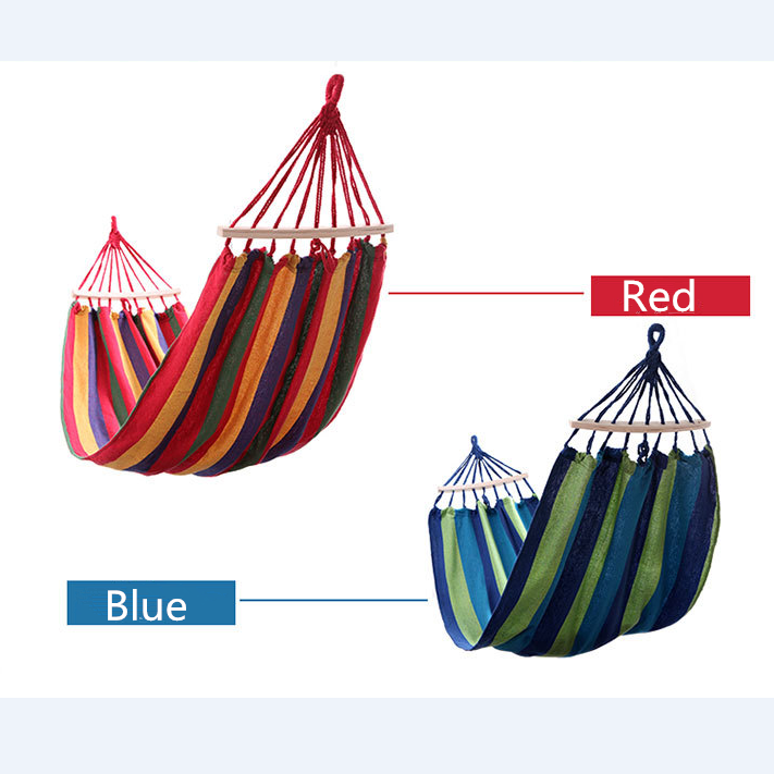 Thick Canvas Portable Parachute Single Hammock Garden Outdoor Camping Travel Furniture Hammock Swing Leisure Sleeping Bed Tools<br>